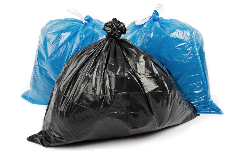 Abfallsäcke freigestellt
